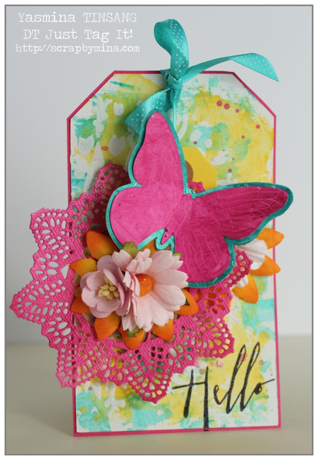 DT Just Tag It! (Summer) Mixed Media Tag