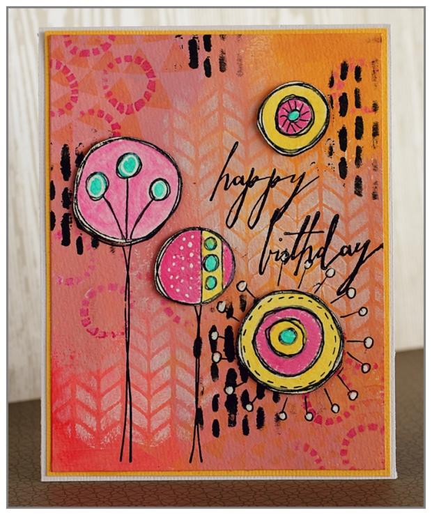 Yasmina Tinsang Acrylic Birthday Card