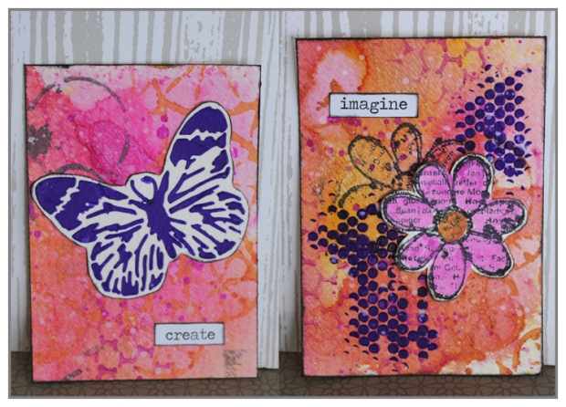 Yasmina Tinsang's ATC for The Crafter's Workshop Design Team