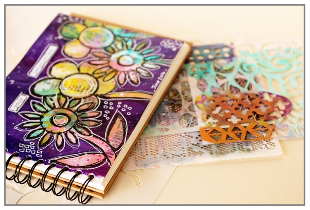 Art Journal pour ma DT The Crafter's Workshop - Juin 2016