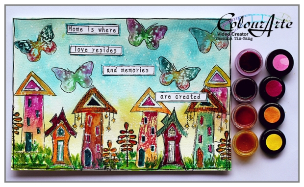 Yasmina - Stamping with twinkling H2Os (ColourArte)