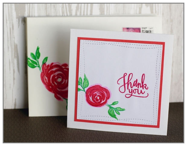 Thank You Card using Papertrey Ink Stamps (Beautiful Brushstokes)
