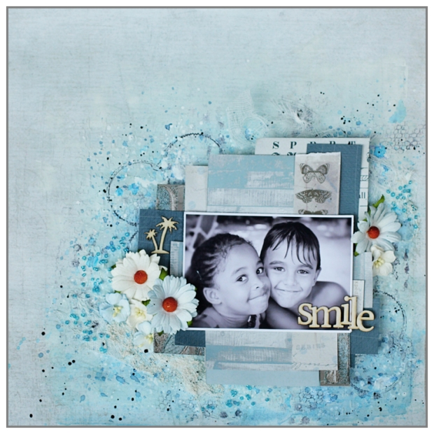 Mixed Media layout using Lorelaï Design papers