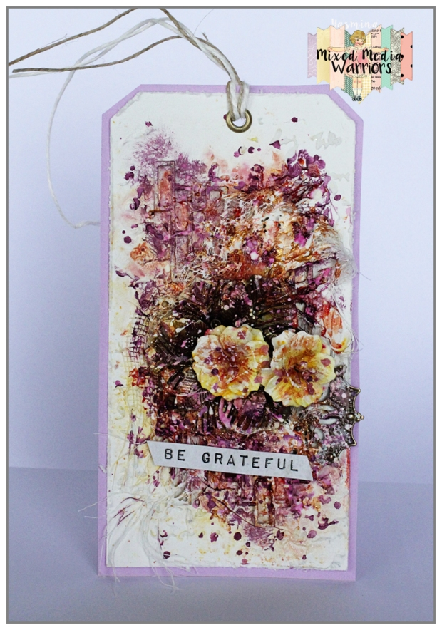 Mixed Media Tag with Primary Elements by COlourArte, Finnabair's products