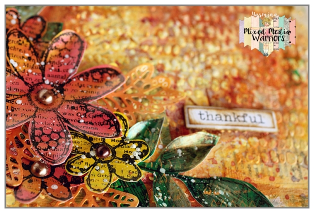 Mixed media canvas with Carabelle Studios Stamps