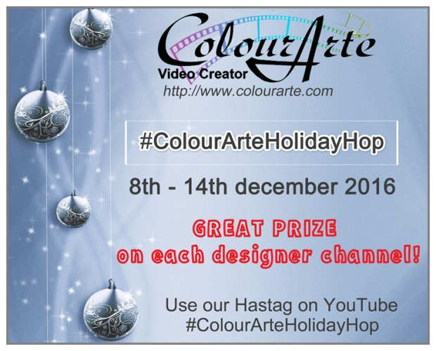 #ColourArteHolidayHop on 8th december 2016