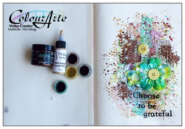 Art journal page with ColourArte's products