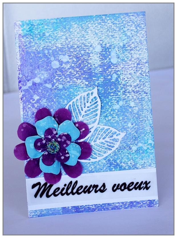 Simple card for christmas by Yasmina TINSANG using Vivid Ultra Métallics by ColourArte