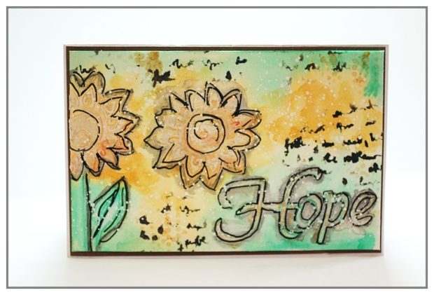 Hope card by Yasmina TINSANG for The Crafter's Workshop's blog