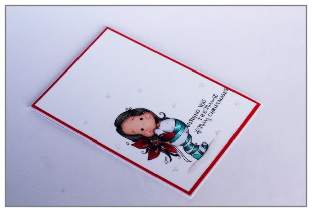 C&S card with Tilda (Magnolia stamp) coloring with Copics