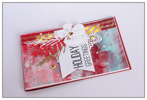 Mixed Media christmas card by Yasmina TINSANG