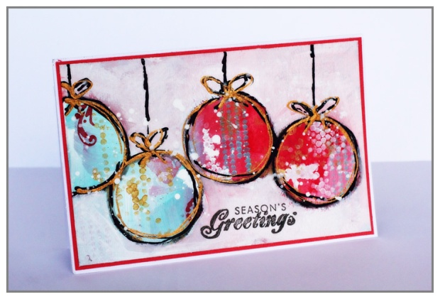 greeting card by Yasmina TINSANG for The Crafter's Workshop