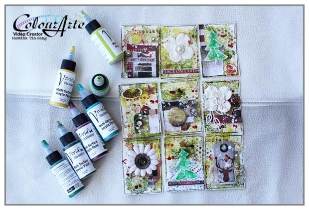 Mixed Media Pocket Letter using ColourArte's products (Vivid Ultra Metallics)