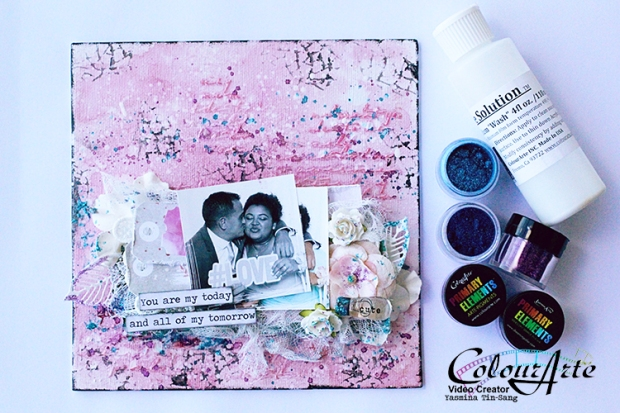 Mixed Media canvas pour colourarte
