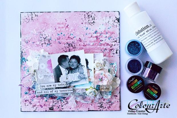 Mixed Media canvas pour colourarte