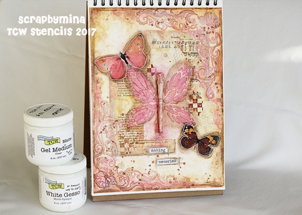 Mixed Media Art Journal page for The Crafter's Workshop